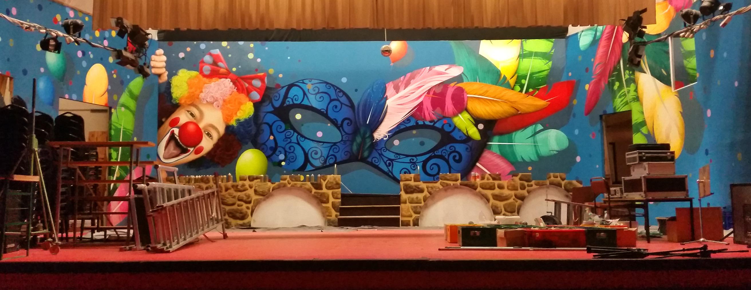 Bühnengestaltung Carneval Zerbst