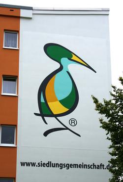 Logomalerei Wohnungsgenossenschaft