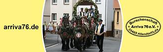 Burschenschaft Arriva 76 Kirmesumzug Licher Brauereigespann