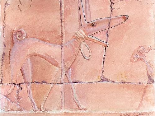"""""""Bark Like an Egyptian"""" archival print"""
