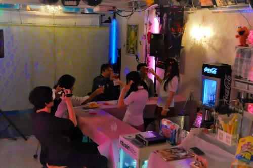秋葉原レンタルスペース.東京での、ガールズバー開催時の写真