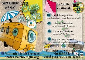 flyer club de plage 2020