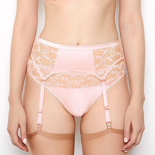 Katherine Hamilton Sophia Apricot Blush Suspender Belt