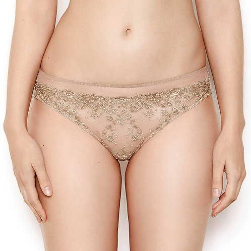 Katherine Hamilton Abrielle Gold Embroidered Knickers