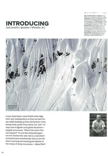 Snowboard Canada x Joel Loverin