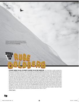 Snowboarder Mag x Rube Goldberg