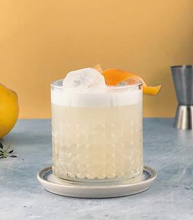 yuzu whisky sour cocktail