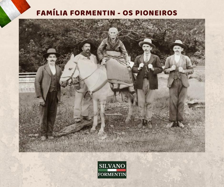 Foto dos primeiros membros da família Fomentin no Brasil