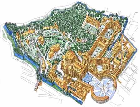 desenho aereo da area ocupada pelo vaticano