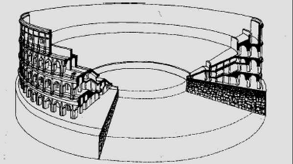 desenho da estrutura do coliseu