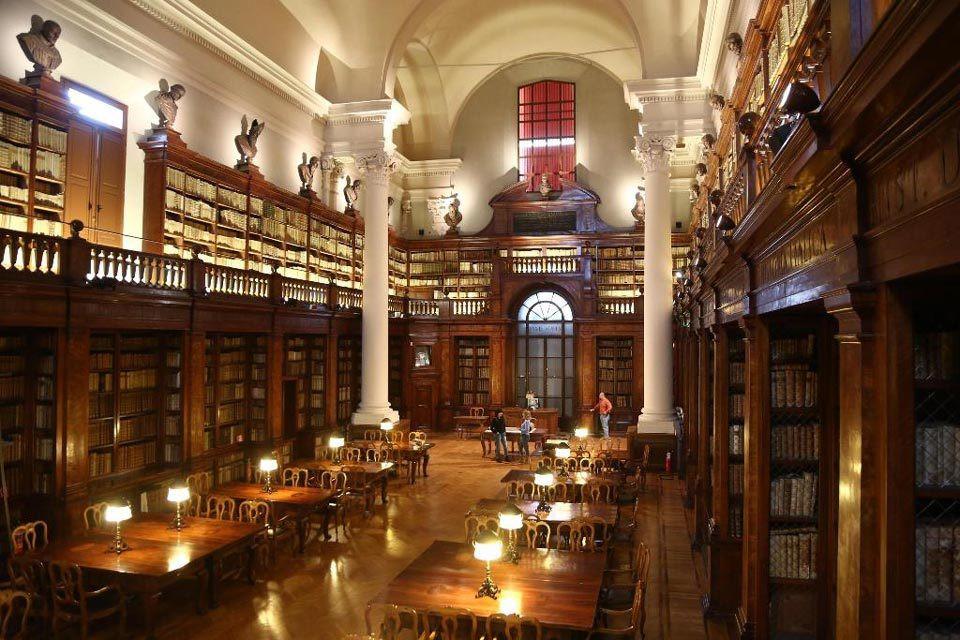 biblioteca da universidade de Bolonha na Italia