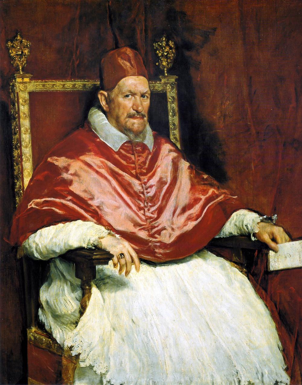 Retrato do Papa Inocencio por Diego Velazquez
