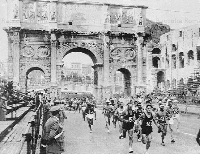 Arco de constantino na Olimpiada de 1960