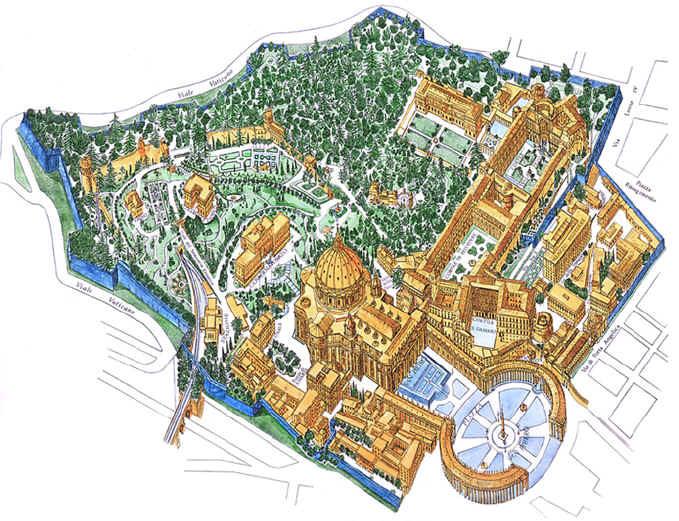 mapa aereo do vaticano feito a mao