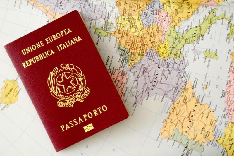 foto de passaporte italiano