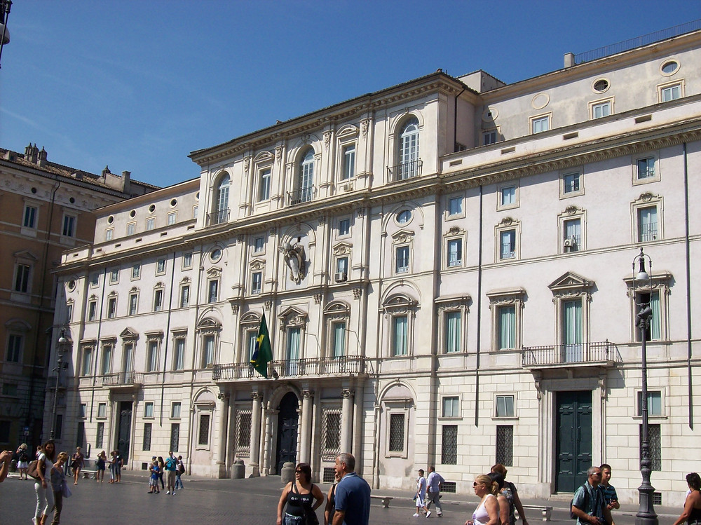 Palazzo Pamphilj sede da embaixada brasileira em roma