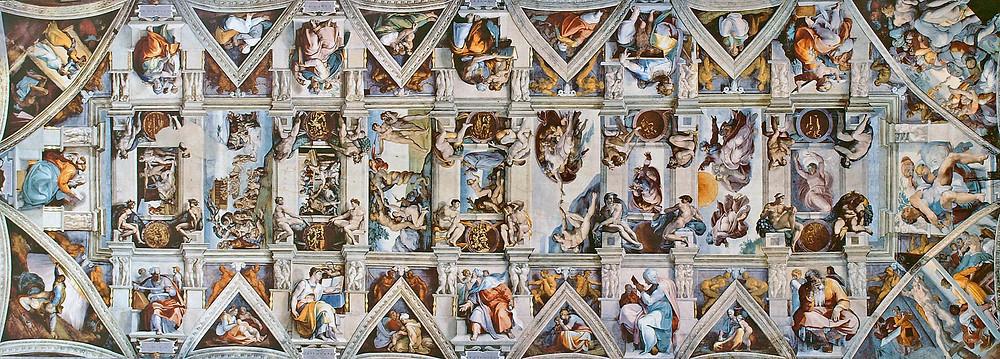 teto da capela sistina feito por michelangelo