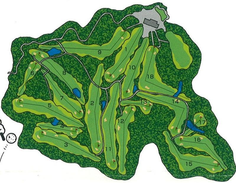 茶臼山ゴルフ倶楽部 全体コースレイアウト