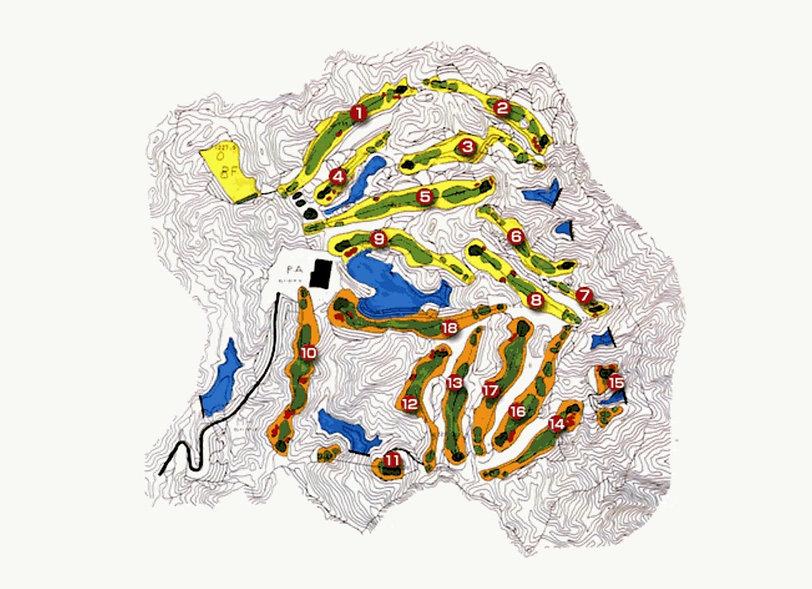 ブナの嶺ゴルフ倶楽部 コースレイアウト