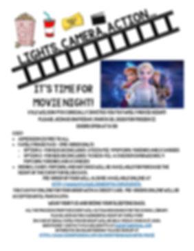 KWES Family Movie Night - 2020 - flyer E