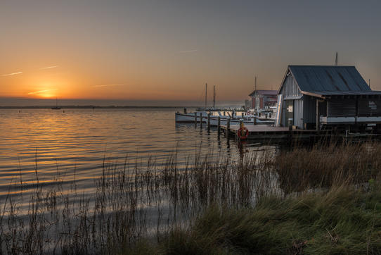 "Robert Barkin, ""Sunrise on Miles River, St. Michaels"""
