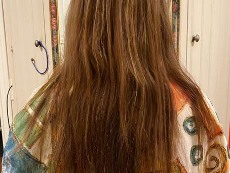 Tappat mer än halva håret