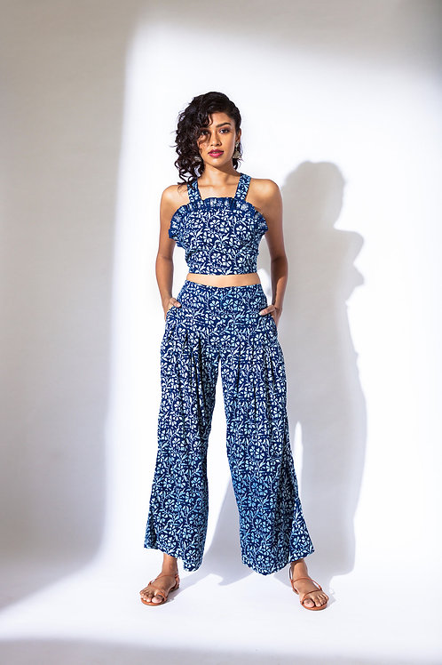 Back Tie up Crop top and Pant