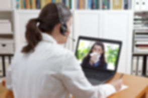 Telemedicine concept: doctor or pharmaci