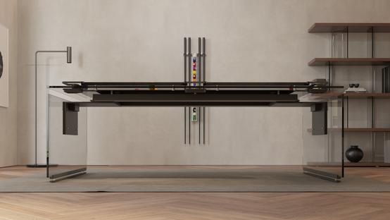 P4 Ultra-Modern Glass Pool Table