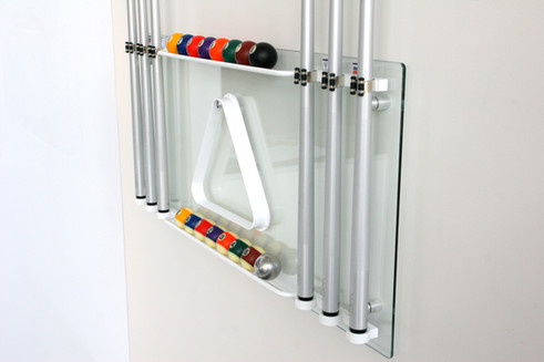 Glass Cue Stand & Accessories