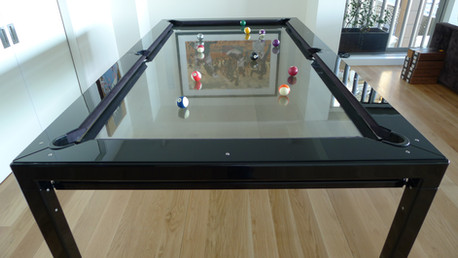G-4 Glass Pool Table