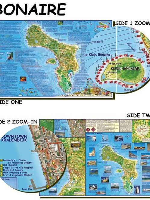 Waterproof Map of Bonaire