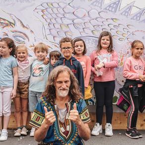 Une fresque participative Dragons Normands à Trouville