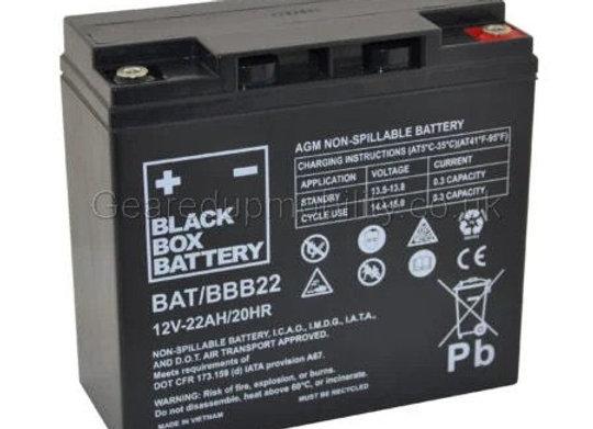 12v 22ah Black Box battery