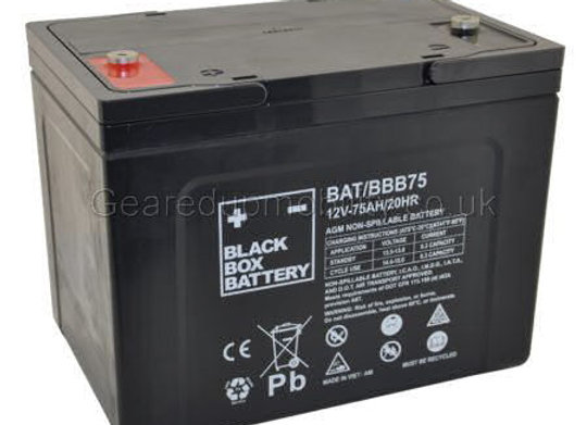 12v 75ah Black Box battery