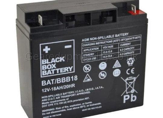 12v 18ah Black Box Battery