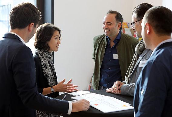 Jessica Berlin moderation at an international tech innovation event