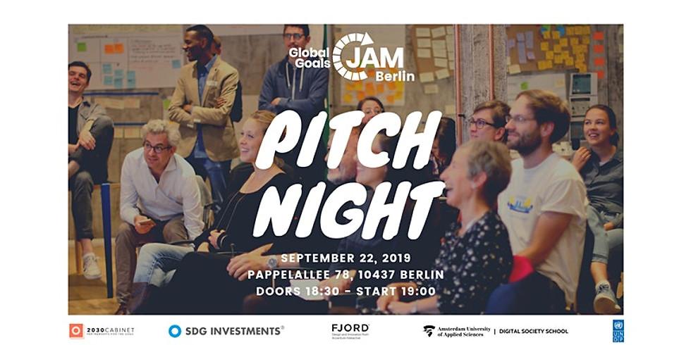 PITCH NIGHT - Global Goals Jam Berlin 2019 #1 | #Act4SDGs