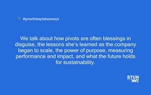We talk about how pivots are often blessings in disguise, the lessons she's learned as the company began to scale, the power of purpose, measuring performance and impact, and what the future holds for sustainability.