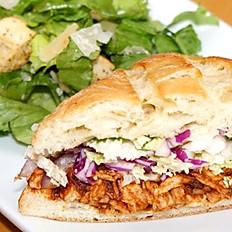 CPK 1/2 BBQ Chicken Sandwich & Caesar Salad