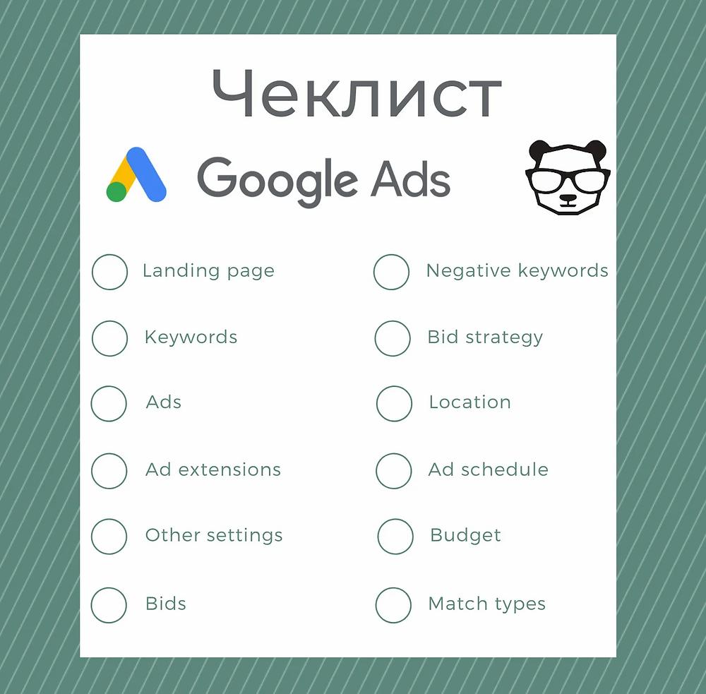 Чеклист за Google Ads