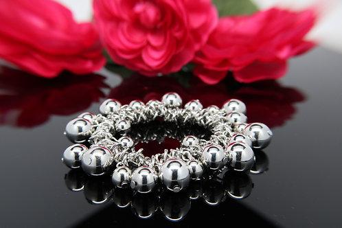 Silver Multi-Beaded Bracelet