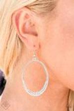 Must Love Sparkle White Rhinestones Earrings