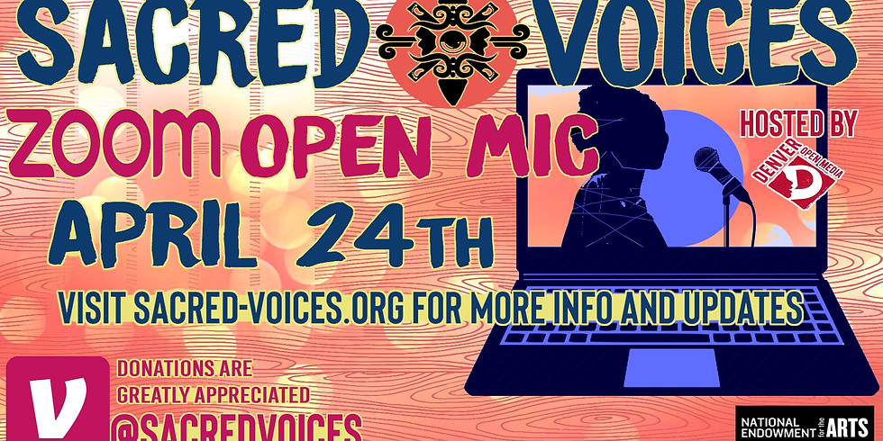 Sacred Voices' Zoom Open Mic