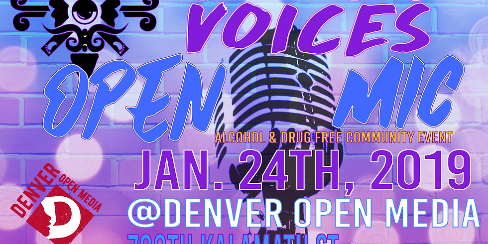 Sacred Voices January 2020 Open Mic