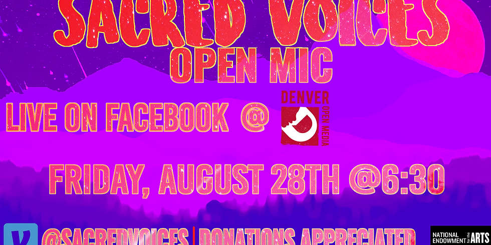 Sacred Voices' August 2020 Virtual Open Mic