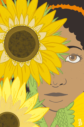 postcard series sunflower
