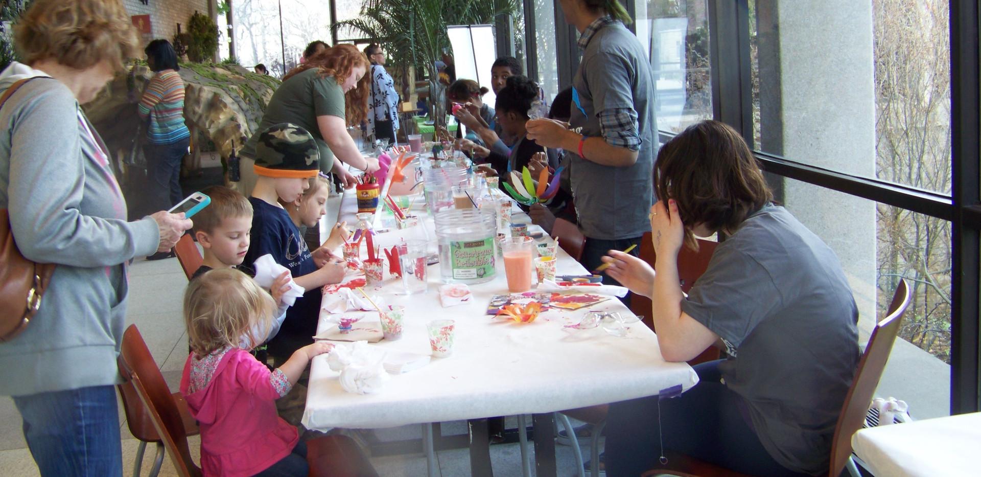 Bottle blossoms workshop