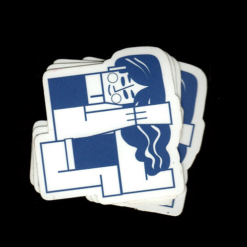 Block Girl Sticker