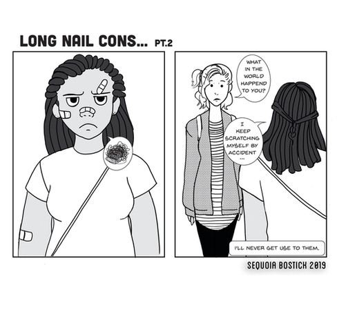 Long Nail Cons